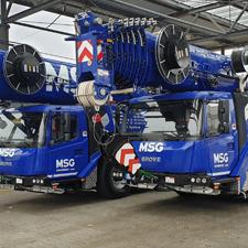 Grove Duo auf 4 und 5 Achsen für MSG Krandienst